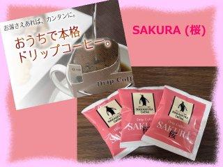 ドリップコーヒー SAKURA(桜)12個入り(おまけつき)