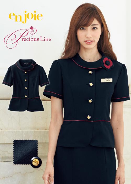 アシメントリーな襟元が高級感を漂わせる上品エレガントなサマージャケット|ジョア 86465