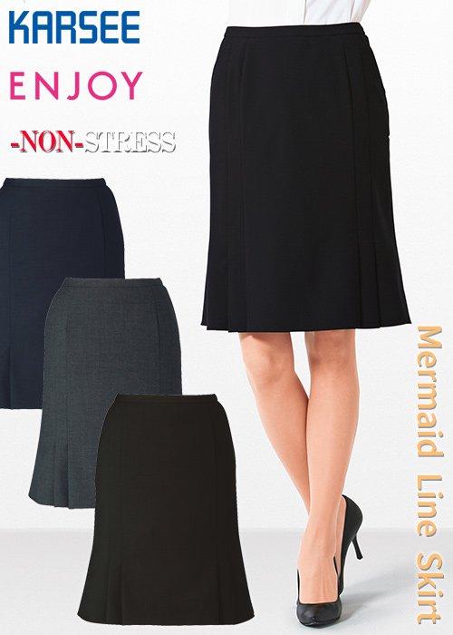 ≪ノンストレスシリーズ≫ウール混率50% 可愛く、女らしく、クラス感のあるマーメイドラインスカート|カーシーカシマ EAS654