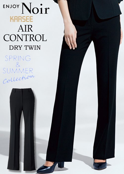 脚長に見せながら、さらりと涼しく、夏のブラックパンツ