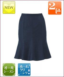 ひらりと揺れるフレアで可憐にスタイルアップ★マーメイドラインスカート