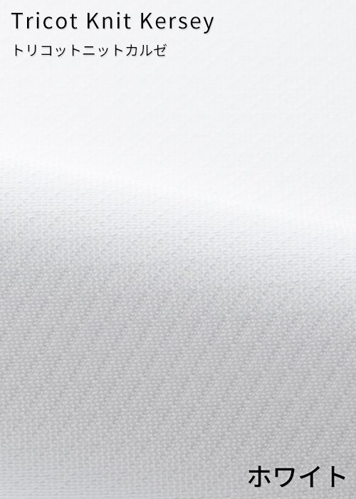 EWB692/11:ホワイトの生地「トリコットニットカルゼ」