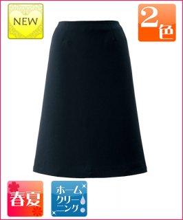 ストレスフリーのウエストとプレーンで清涼感のある素材で、夏場に最適なAラインスカート
