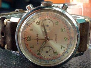 Wakmann(ワックマン)クロノグラフ Landeron 149 ランデロン 高級ブランドヴィンテージ腕時計アンティーク古時計レトロ WK705156
