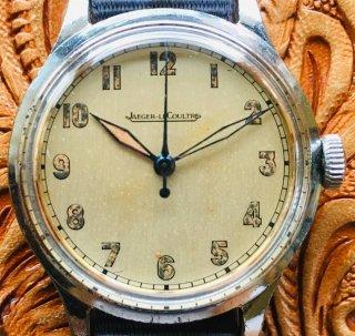 ジャガー ルクルト1940'S★Cal. P478 Jaeger Lecultre 手巻き ミリタリー アンティーク腕時計 メンズ 純正文字盤 JL19071201