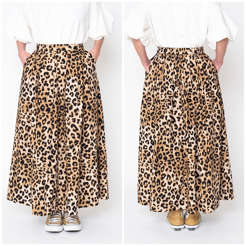 thomas magpie long skirt leopard