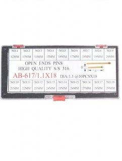 輸入品 617/Φ1.1X18サイズワリピンセット12〜29�