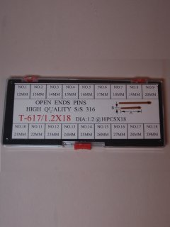 輸入品 617/Φ1.2X18サイズワリピンセット12〜29�