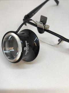 BERGEON【ベルジョン】 眼鏡用 アルミ縁キズミ 黒 4.0倍/5.0倍