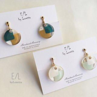 (全2色)Circle 2blocking pierce/earring