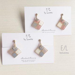 (全2色)Square 3color pierce/earring