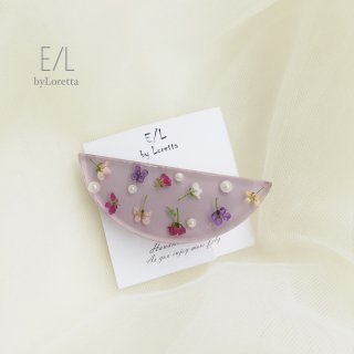 Flower hair clip (lavender)