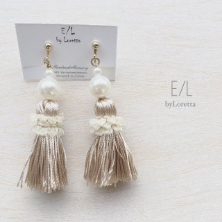 Pearl tassel pierce/earring