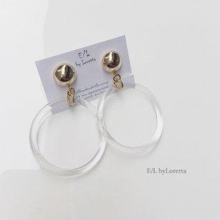 Clear hoop pierce/earring