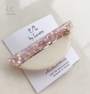 Bi-color shell hair clip(WHITE×LAVENDER)