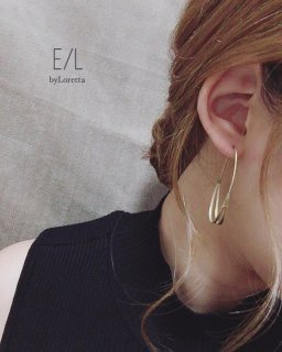 真鍮 separate hoop pierce
