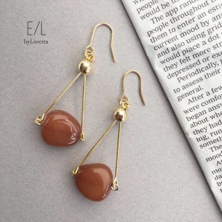 Stonebeads pierce/earring