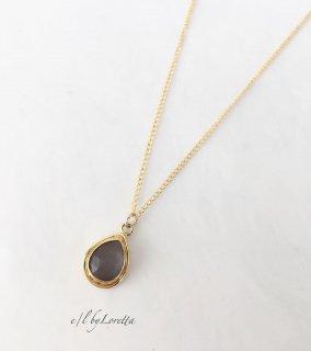グレームーンストーン 14kgf Drop necklace