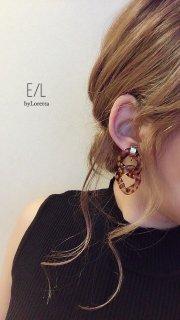 ヒョウ柄 Bekkou w ring pierce/earring