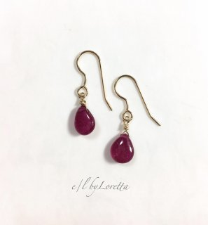 ルビー Drop pierce/earring �