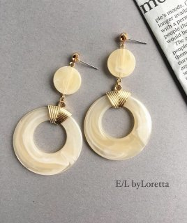Marble circle hoop pierce