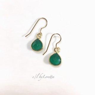 グリーンオニキス marron pierce/earring