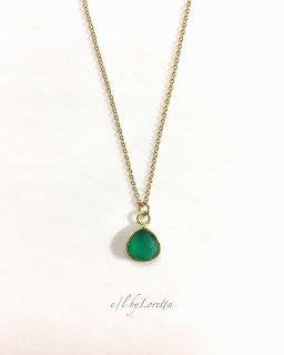 グリーンオニキス 14kgf necklace