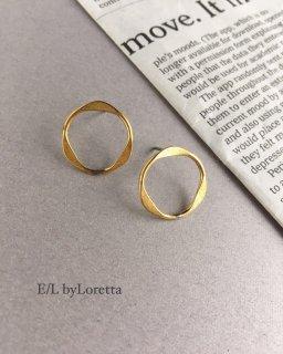 真鍮 circle pierce
