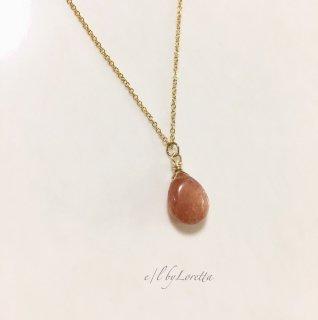 サンストーン 14kgf necklace