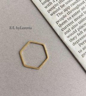 真鍮 6角 ring
