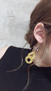 Color w chain pierce/earring(Yellow)