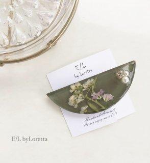 Flower hair clip(Khaki)