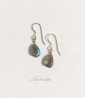 ラブラドライトDrop pierce/earring