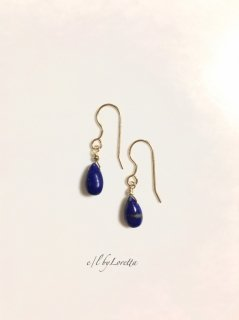 ラピスラズリ Drop pierce/earring