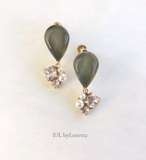 Color shizuku bijou pierce/earring(Khaki)