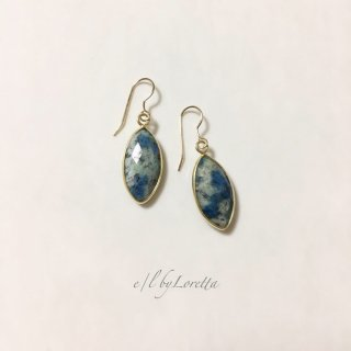 アズライト Marquis pierce/earring �