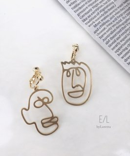 【2/18(tue)21:00〜Order Start.】真鍮 Face pierce/earring (Smile)