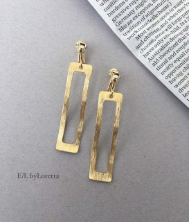 真鍮 Long square wave pierce/earring