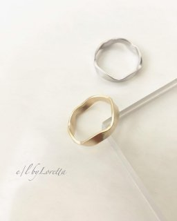 Mat gold/silver Ring