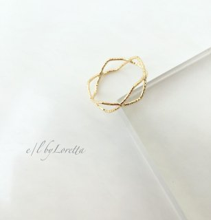 Gold connect  ring
