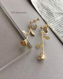 バラ Gold pierce/earring