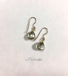 グリーンアメジスト marron pierce/earring