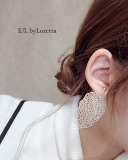 真鍮leaf form pierce/earring