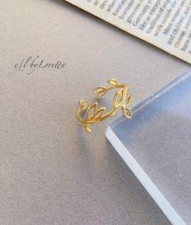 真鍮 branch ring