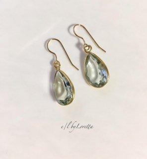 グリーンアメジスト drop pierce/earring