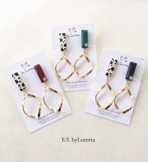 (全3色)Asymmetry Animal twist hoop pierce/earring