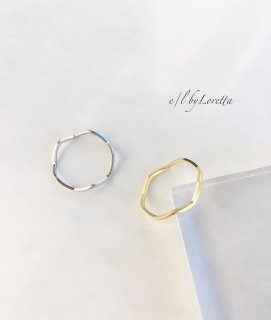 【11/28(sat)21:00〜Order Start.】(全2色)Mat color wave Ring