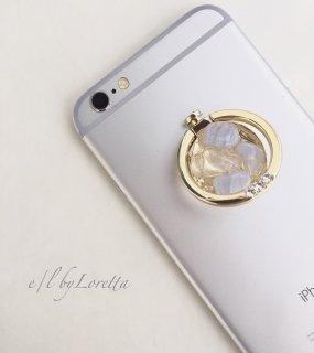 スマホ Ring ブルーレース×水晶