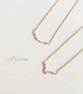 星座 crystal necklace (みずがめ座/うお座)