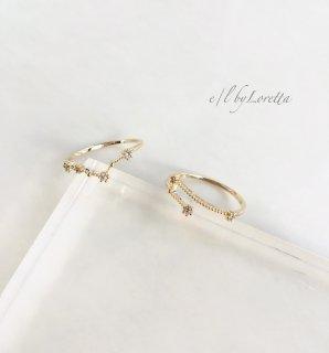 星座 Crystal Ring  (うお座/おひつじ座)